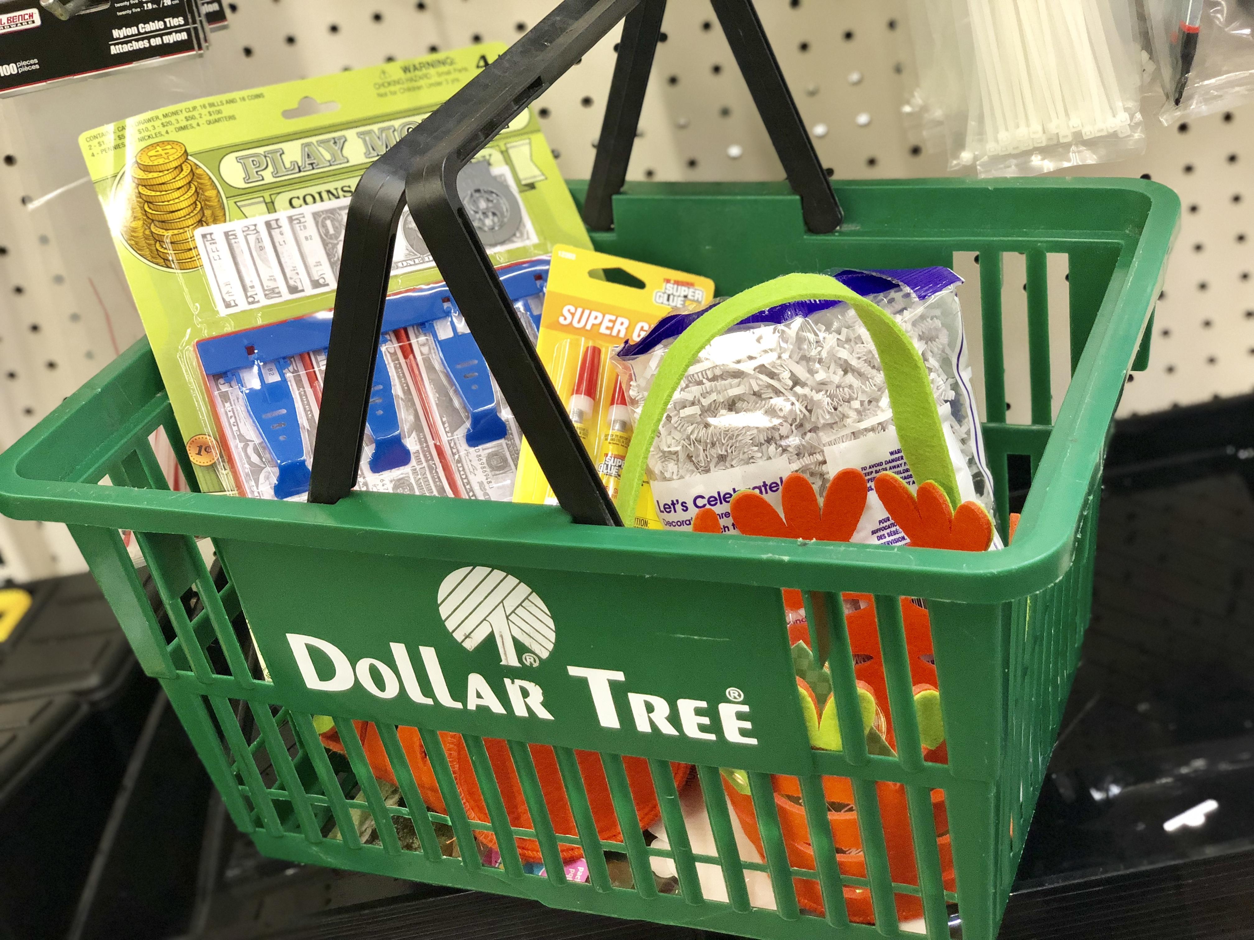 basket on a conveyor belt with items inside