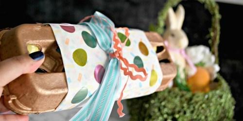 This DIY Easter Egg Carton Gift Idea is Fun, Easy, & Egg-cellent!