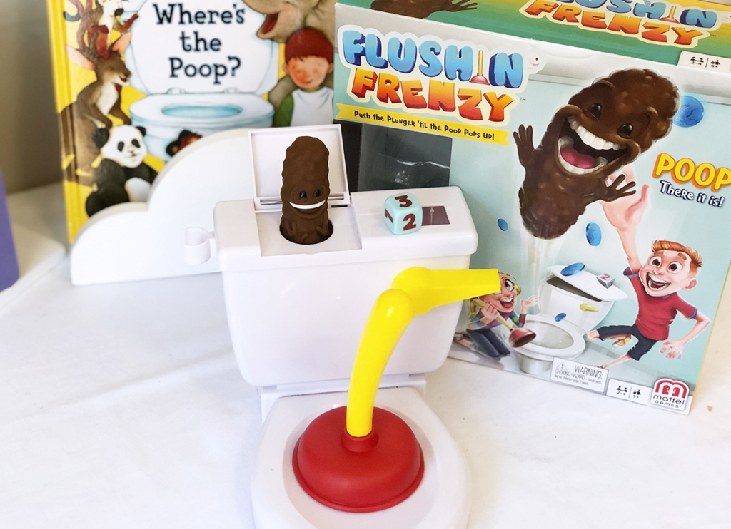 flushing frenzy game toilet and plunger