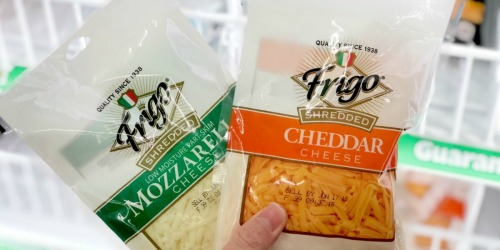 New Frigo Cheese Coupons = Shredded Cheese Just 45¢ at Dollar Tree