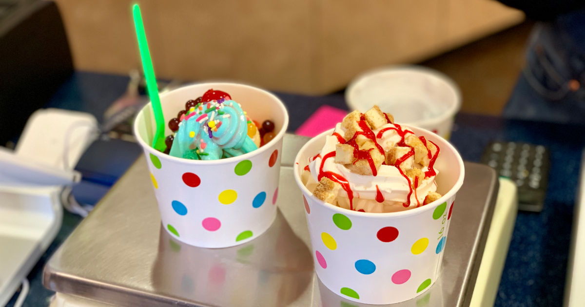 Menchie's Frozen Yogurt in cups