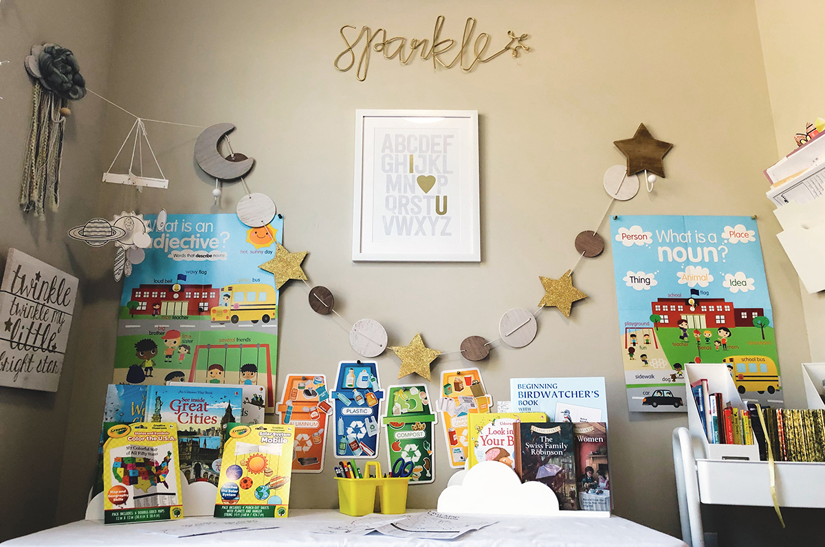 happy friday homeschooling center decor