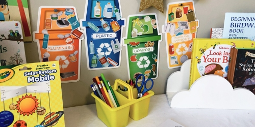 Set Up A Learning Station Using Dollar Tree Supplies (Great for Homeschoolers)
