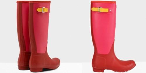 Hunter Women's Original Colorblock Tall Rain Boots Just $69.99 Shipped