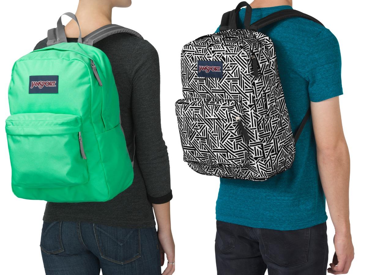two people wearing JanSport backpacks