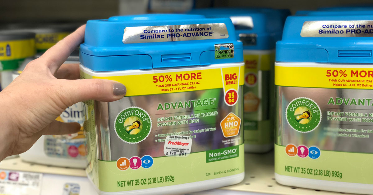 kroger comforts formula on the store shelf