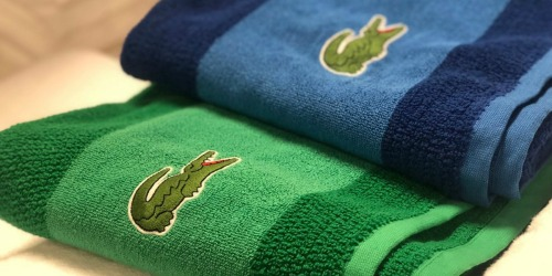 THREE Lacoste Bath Towels as Low as $33.91 (Just $11 Each) – OVER $100 Value