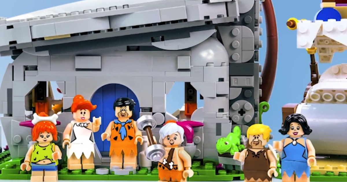 LEGO Flintstones figures and stonehouse