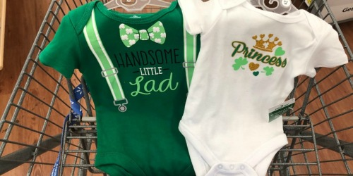 St. Patrick's Day Bodysuits Only $2.96 at Walmart + More