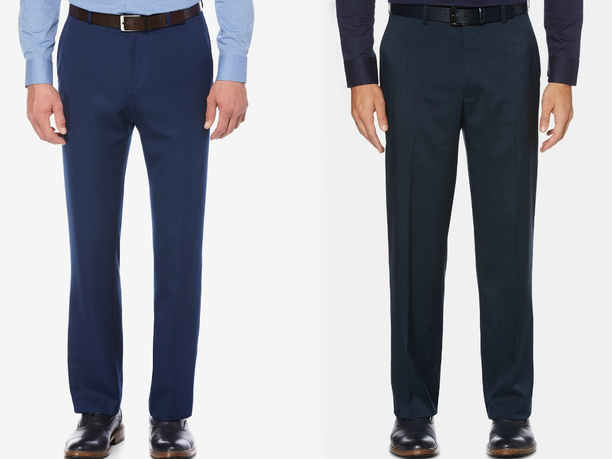 Dress Pants Mens Adjustable Waist Pleated Front By Giovanni Uomo
