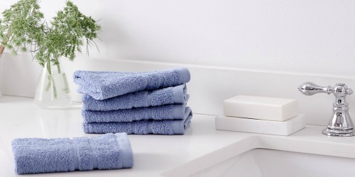 Martha Stewart Washcloth 6-Pack Just $4 at Macy's