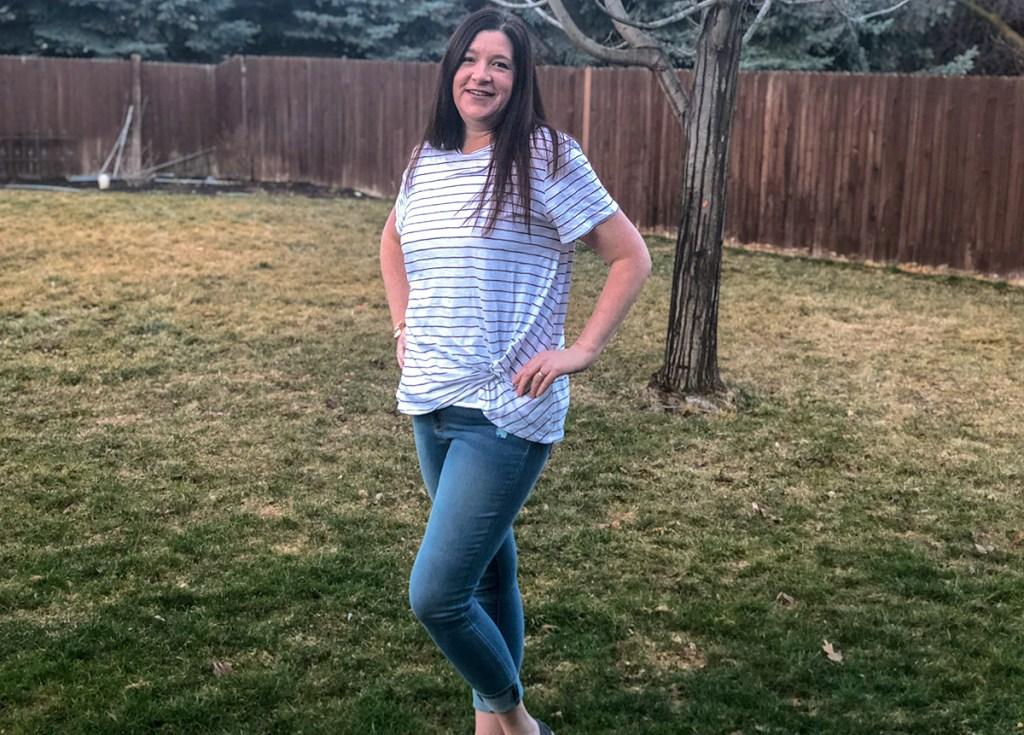 walmart wednesday — michelle wearing walmart outfit