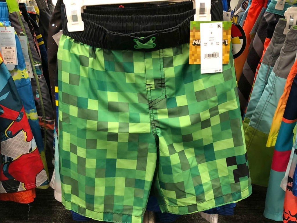 4e57e3d966 Buy Boys' Minecraft Swim Bottoms $14.99. Total = $29.98. Minus automatic  buy one, get one 50% off sale. Final cost $22.48 total – just $11.24 each!