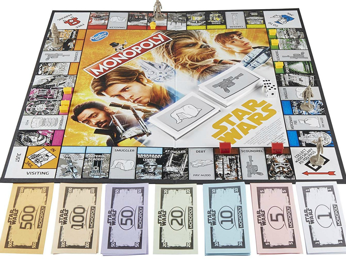 board game of han solo star wars monopoly