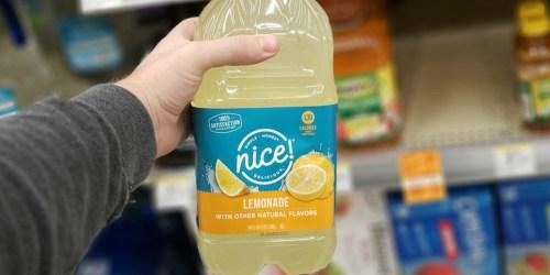 Nice! Brand Juice & Lemonade Possibly Just 57¢ at Walgreens