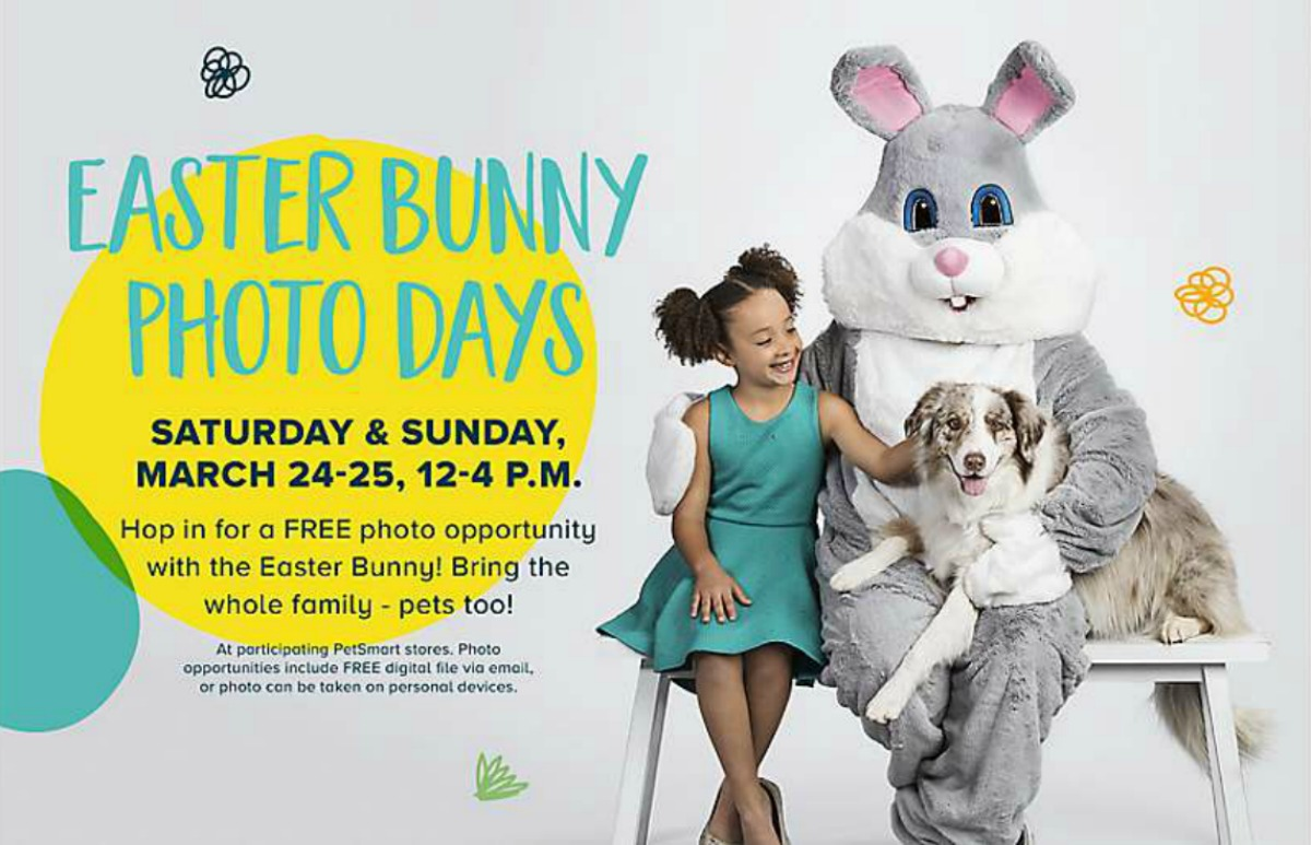 FREE Family & Pet Photo w/ Easter Bunny at PetSmart (March 24th & 25th)