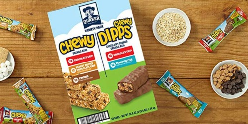 Amazon: Quaker Chewy Granola Bars & Dipps 58-Count Variety Pack Just $7.27 Shipped