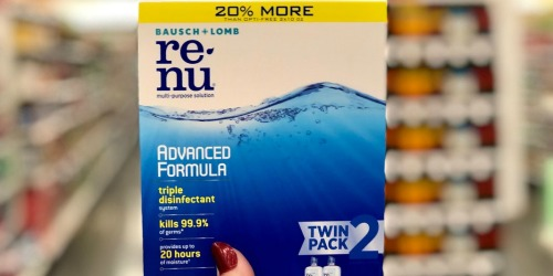 Bausch + Lomb ReNu Lens Solution Twin Pack Just $7 Shipped at Amazon