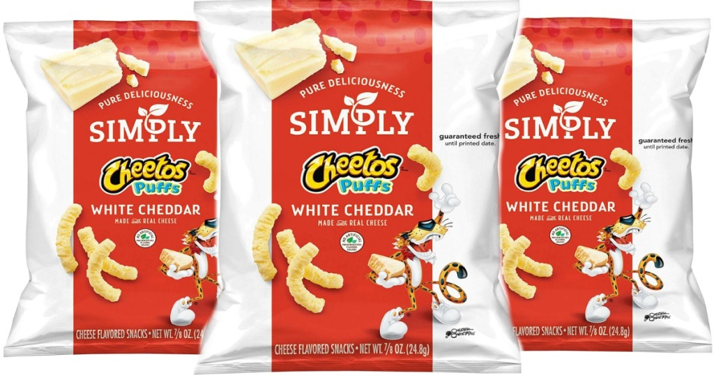 simply cheetos puffs bags