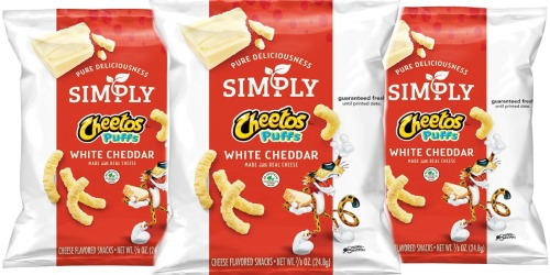 Amazon: Simply Cheetos White Cheddar Puffs 36-Count Just $10.66 Shipped (Only 30¢ Each) + More