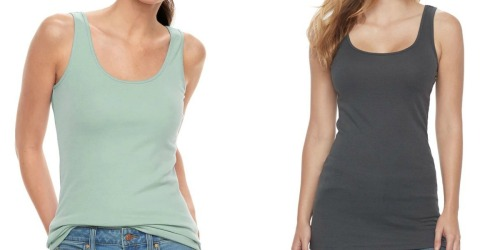 SONOMA Goods for Life Women's Long Layering Tanks as Low as $4.59 Shipped for Kohl's Cardholders