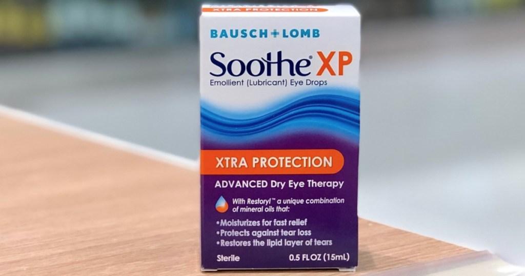 bausch + lomb soothe xp eye drops box