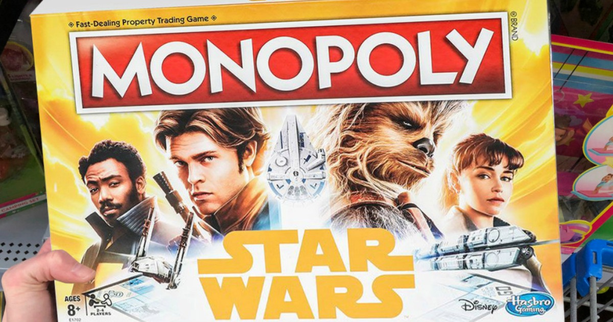 hand holding star wars board game