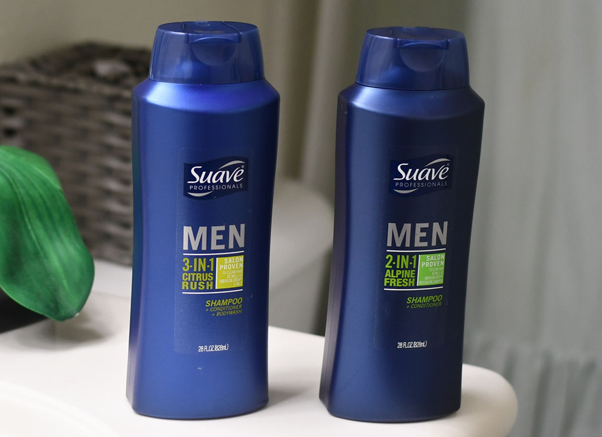 Suave men's hair care products