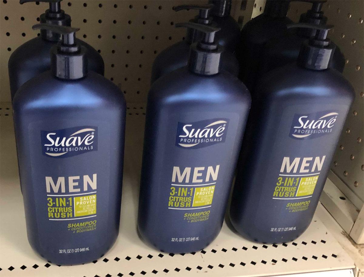 suave men's 3-in-1 shampoo