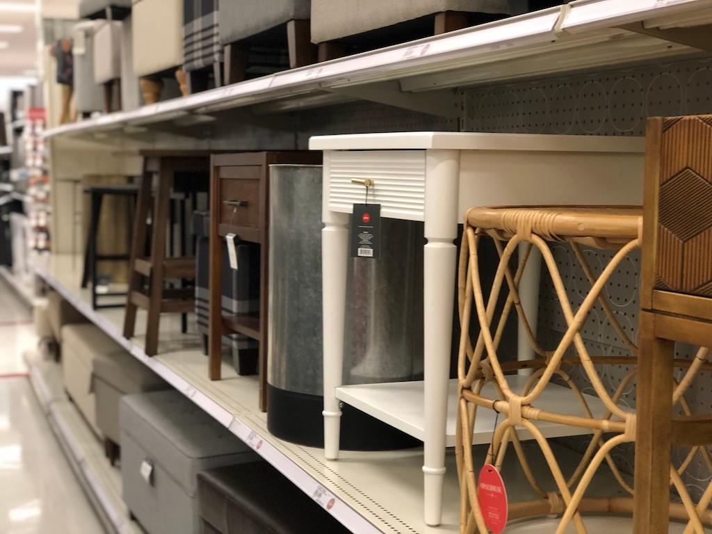 aisle of furniture at Target
