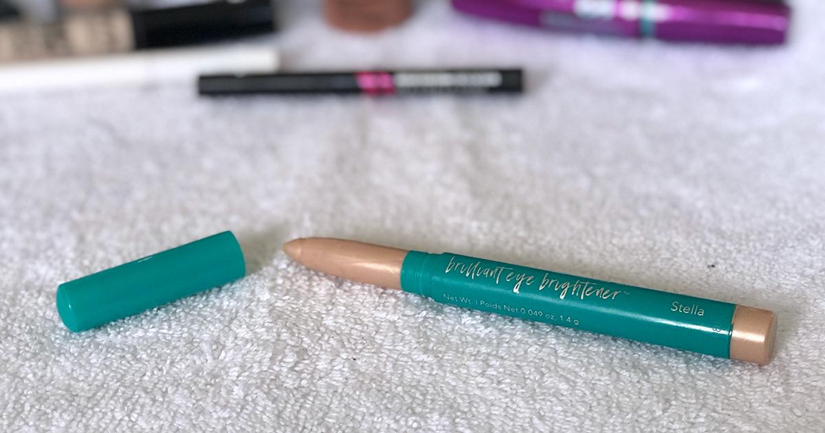 emily's makeup bag — thrive causemetics eye brightener highlighter stick