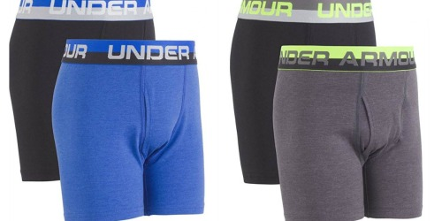 Amazon: Boys Under Armour Boxer Briefs 2-Pack Only $8.99 (Regularly $15)