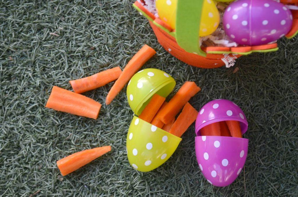 gag veggie filled easter eggs
