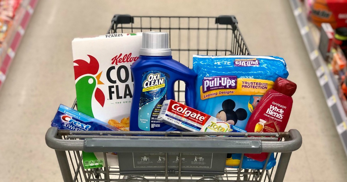 Walgreens shopping basket filled with items