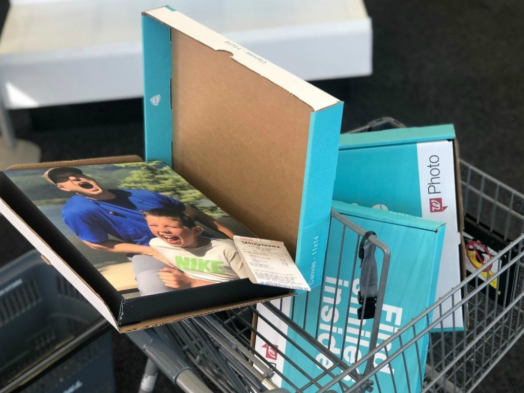 walgreens photo canvas prints in shopping cart