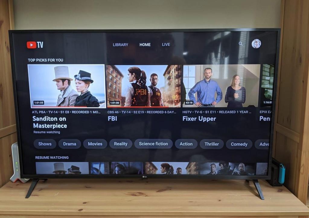 YouTube on TV screen