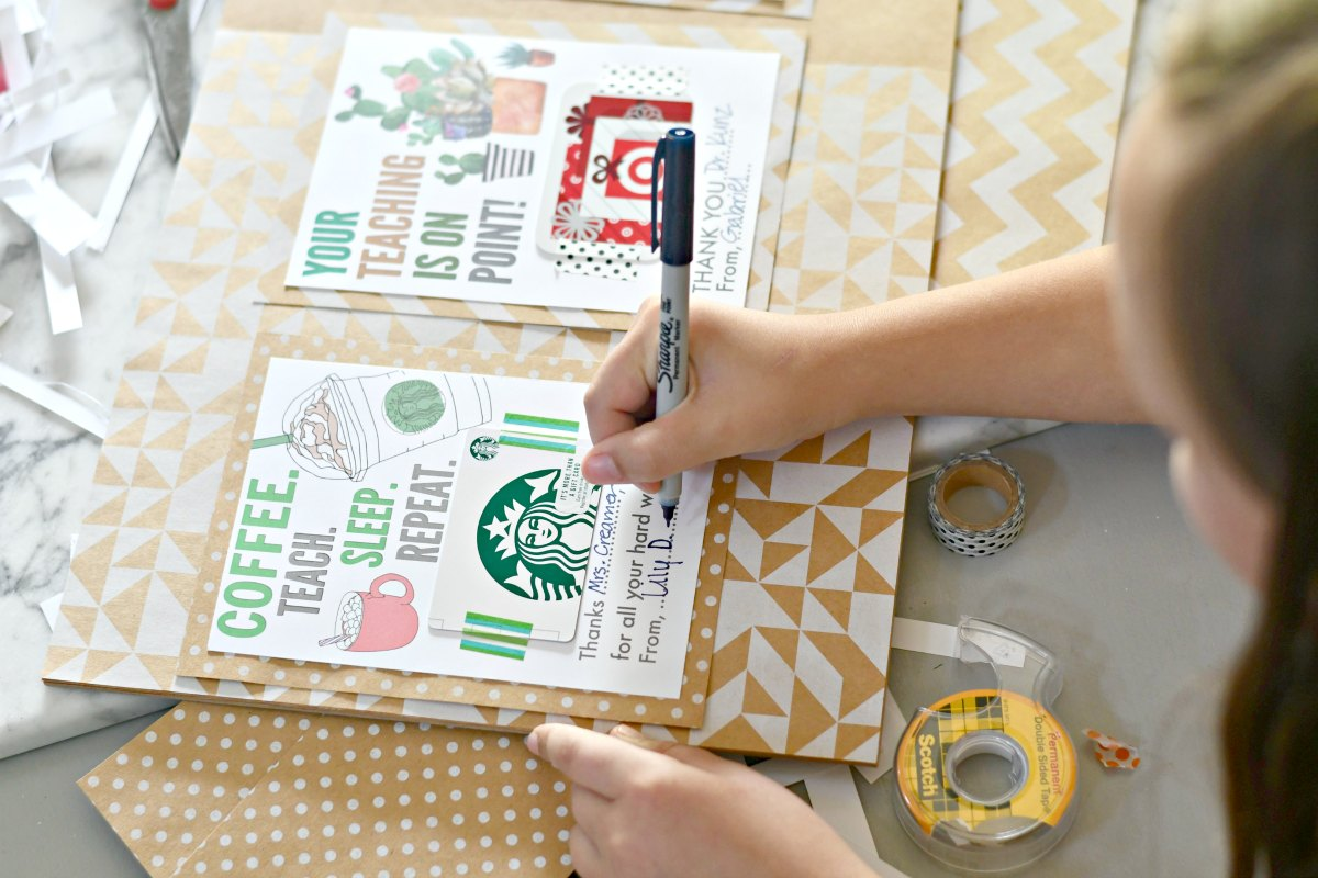 easy teacher gift idea filled out by child