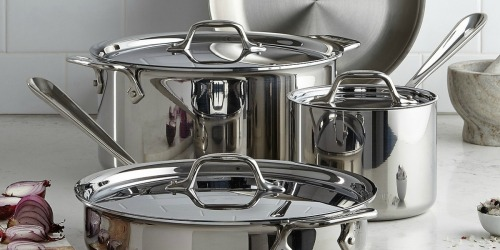 All-Clad 7-Piece Cookware Set Only $299.99 Shipped (Regularly $630) + FREE Oval Baker w/ Pot Holders