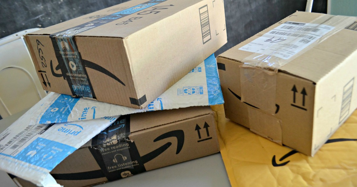 Amazon Prime boxes and packaging