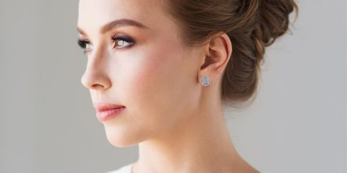 Cate & Chloe 18K White Gold Plated Earrings Only $14.99 Shipped