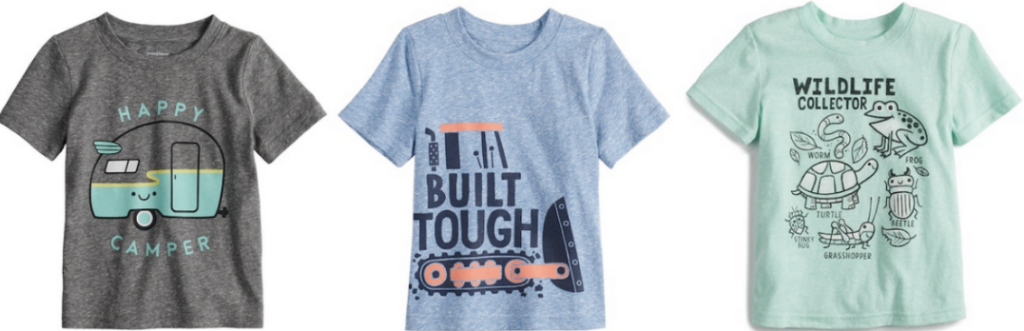 Baby Boy Jumping Beans Heathered Softest Graphic Tee
