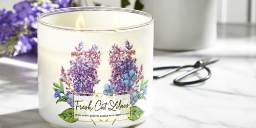 FREE Bath & Body Works Fresh Cut Lilacs 3-Wick Candle w/ Any Purchase ($25 Value)