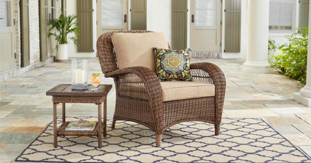 Hop On Over To Home Depot Where You Can Save Up 40 Off Select Wicker Outdoor Furniture All These Items Feature Uv Protection Resist Fading