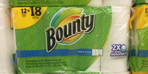 Bounty Giant Paper Towel Rolls 12-Count Packs Just $10.82 Each After Target Gift Card