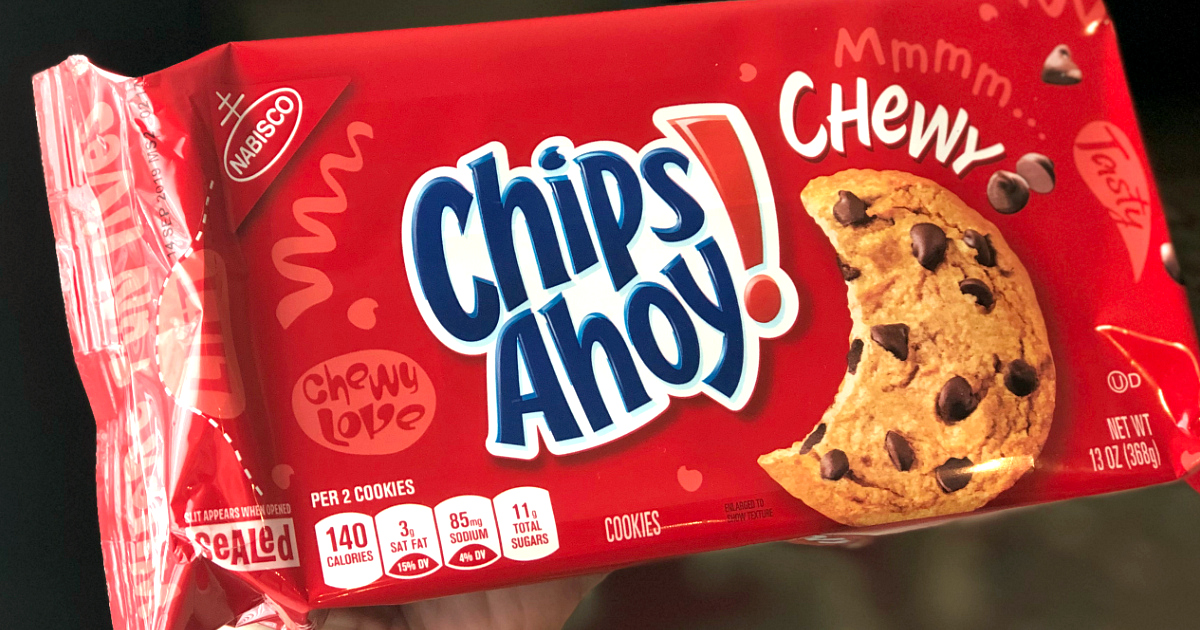Chips Ahoy! Chewy cookies packaging
