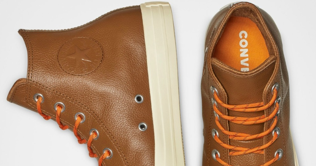 14054a924b 50% Off Converse Leather Shoes + Free Shipping