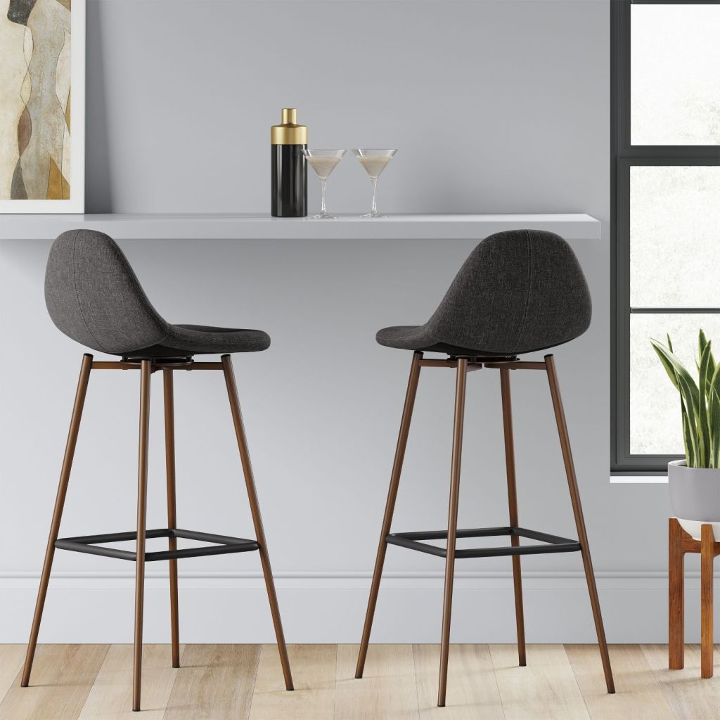 Copley Upholstered Barstools at counter