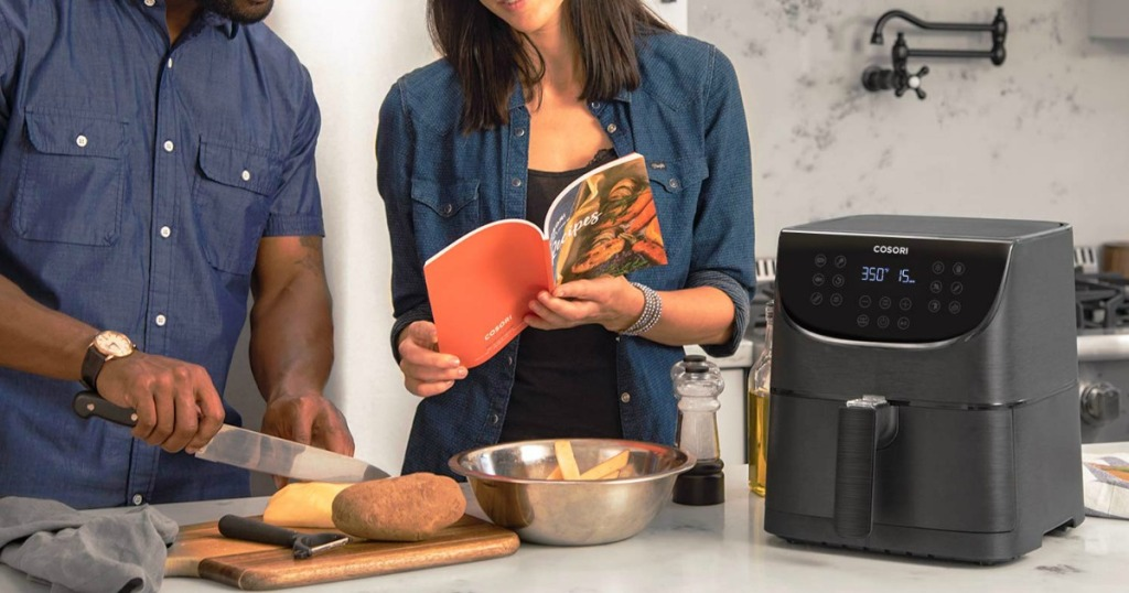 people cooking with Cosori air fryer