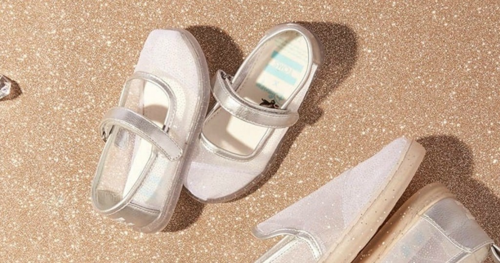 6043433cba4 Disney X TOMS Cinderella Glitter Mesh Tiny TOMS Mary Jane Flats  19.99  (regularly  48.95) Use your unique promo code ( 10 off) Shipping is free