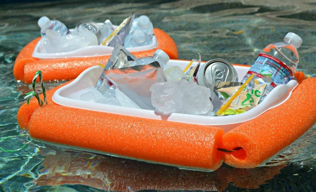 Dollar Tree Pool Noodle Floating Cooler